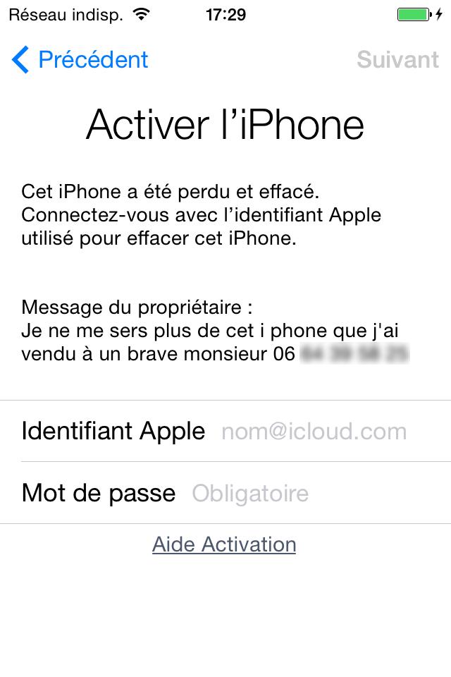 modifier identifiant apple sur ipod